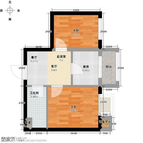 圣济经典・家园2室0厅1卫1厨49.00㎡户型图