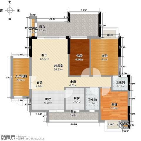 天重・山水华庭3室0厅2卫1厨112.00㎡户型图