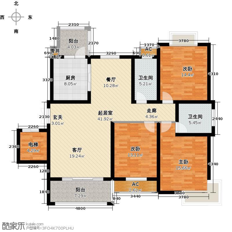 锦宸国际花园锦宸国际花园G-6户型3室2厅2卫1厨141.00㎡户型3室2厅2卫