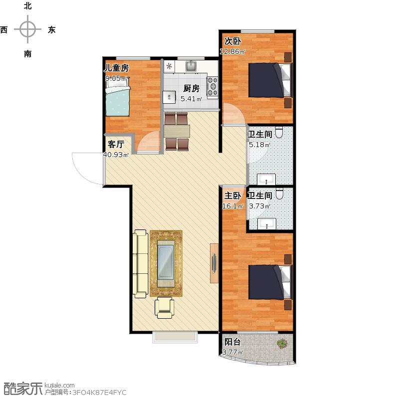 16-3三室两厅两卫