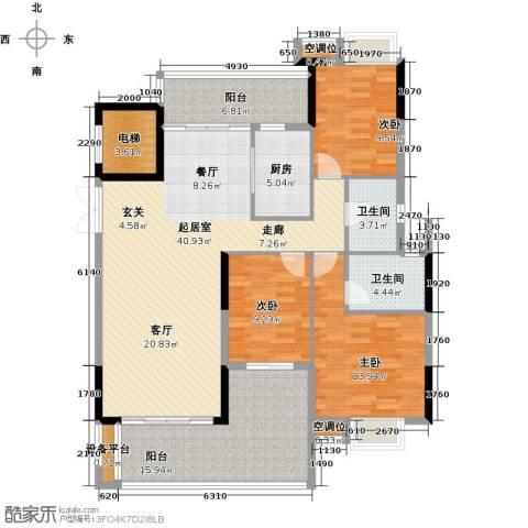 天重・山水华庭3室0厅2卫1厨163.00㎡户型图