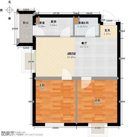 圣济经典・家园2室0厅1卫1厨74.00㎡户型图