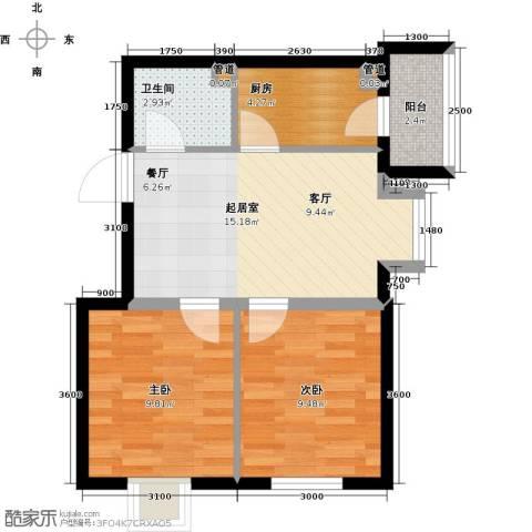 圣济经典・家园2室0厅1卫1厨64.00㎡户型图
