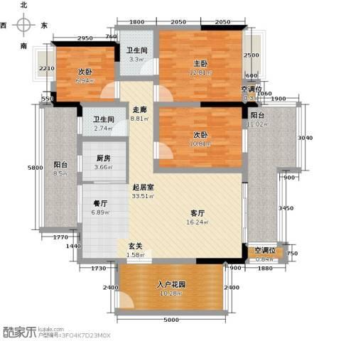 天重・山水华庭3室0厅2卫1厨152.00㎡户型图