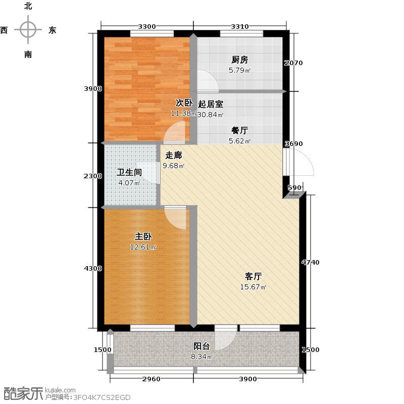 沈阳哥本哈根89.05㎡G户型2室2厅1卫