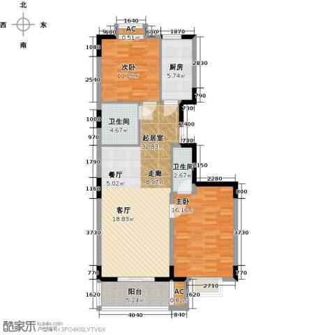 历山名郡一期2室0厅2卫1厨113.00㎡户型图