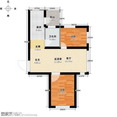 公元天下2室0厅1卫0厨63.00㎡户型图