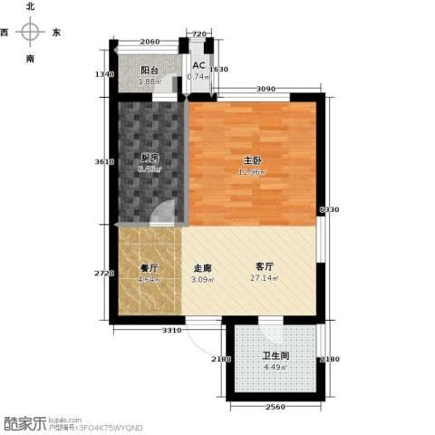 天津和平时光1厅1卫1厨47.00㎡户型图