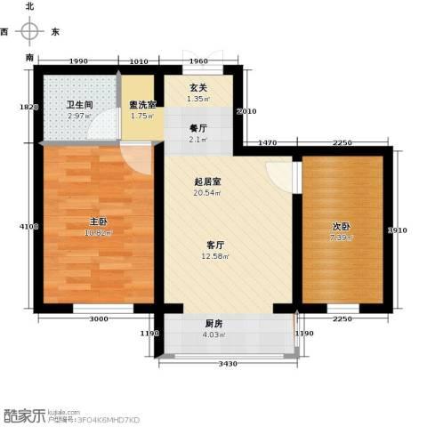 公元天下2室0厅1卫0厨60.00㎡户型图