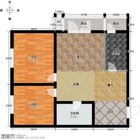 天津和平时光2室1厅1卫1厨98.00㎡户型图