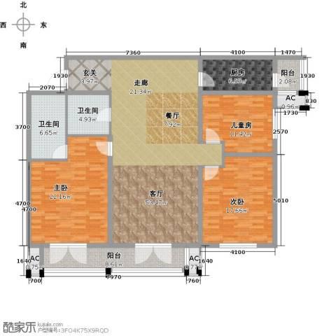 天津和平时光3室1厅2卫1厨153.00㎡户型图