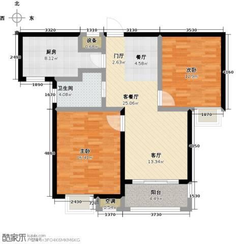 牧龙湖壹号2室1厅1卫1厨105.00㎡户型图