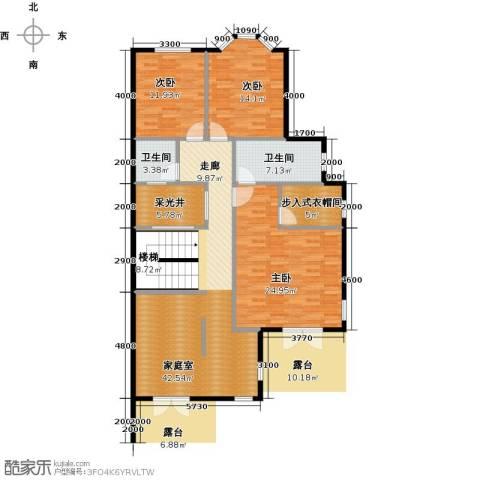 鲁能东方优山美地3室0厅2卫0厨120.00㎡户型图