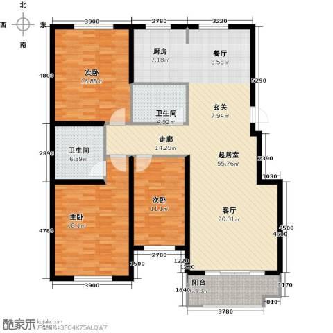 紫金湾3室0厅2卫0厨132.00㎡户型图
