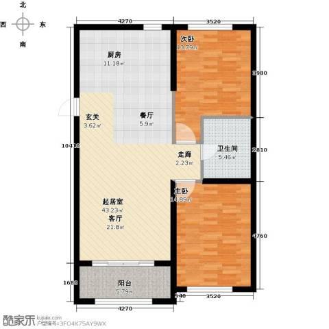 紫金湾2室0厅1卫0厨92.00㎡户型图