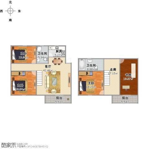 新狮新苑4室1厅2卫1厨213.00㎡户型图