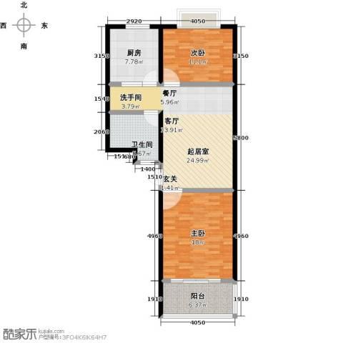 金都时代新城2室0厅1卫1厨86.00㎡户型图
