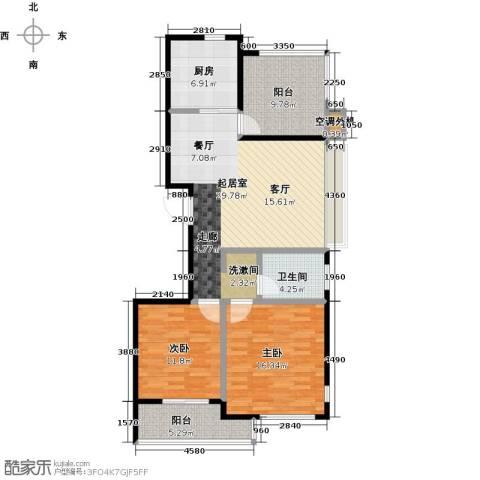 金桥澎湖山庄2室0厅1卫1厨98.00㎡户型图