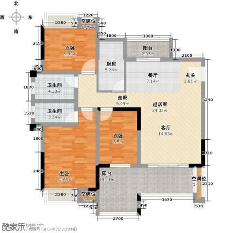 天重・山水华庭3室0厅2卫1厨141.00㎡户型图