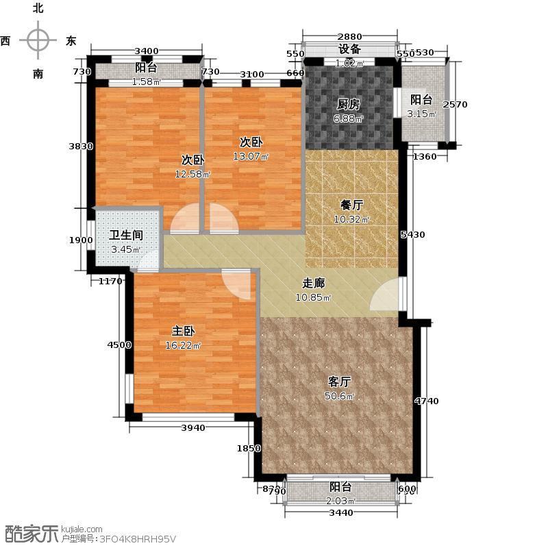 金侨城户型3室1厅1卫