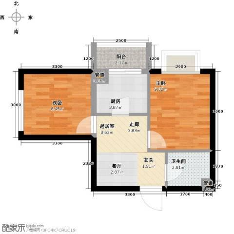 圣济经典・家园2室0厅1卫1厨52.00㎡户型图