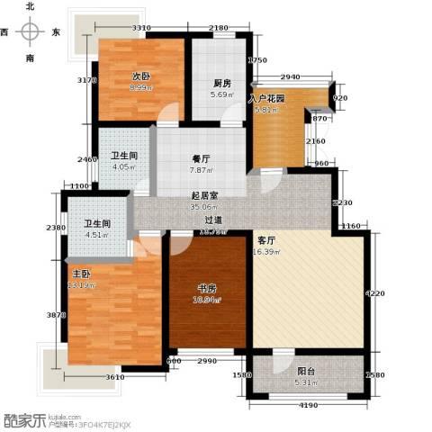 天一海尚阳光3室0厅2卫1厨122.00㎡户型图