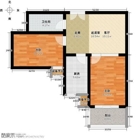 盛世长风二期2室0厅1卫1厨80.00㎡户型图