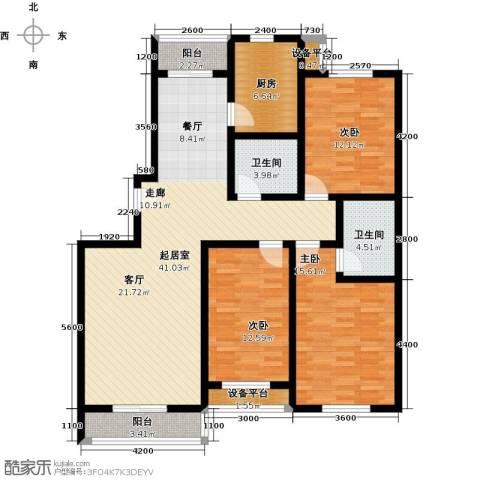 盛世长风二期3室0厅2卫1厨152.00㎡户型图