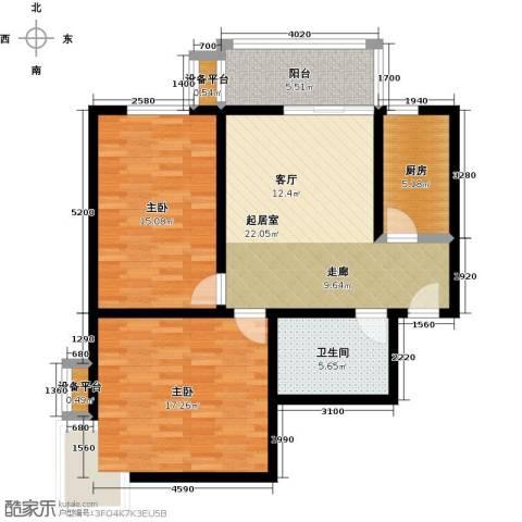 盛世长风二期2室0厅1卫1厨83.00㎡户型图