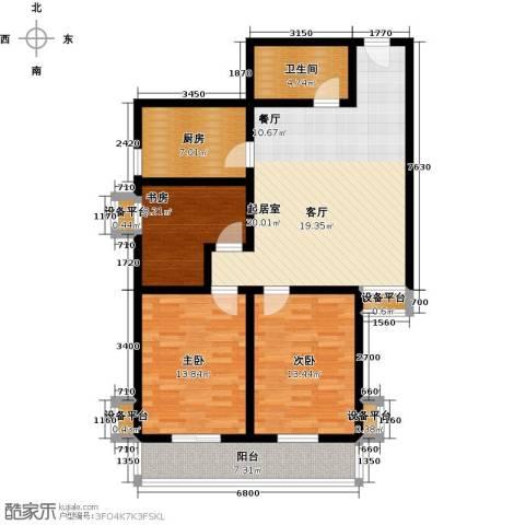 盛世长风二期3室0厅1卫1厨101.00㎡户型图