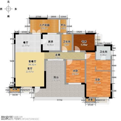 国电金海域3室1厅2卫1厨183.00㎡户型图