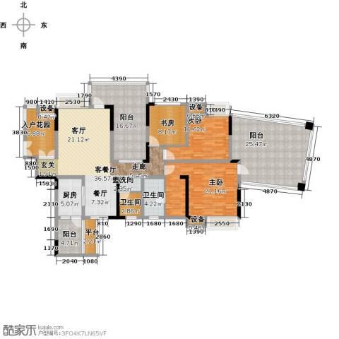国电金海域3室1厅2卫1厨213.00㎡户型图