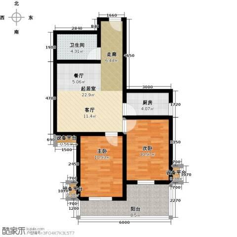 盛世长风二期2室0厅1卫1厨87.00㎡户型图