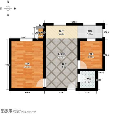 盛世长风二期2室0厅1卫0厨63.00㎡户型图