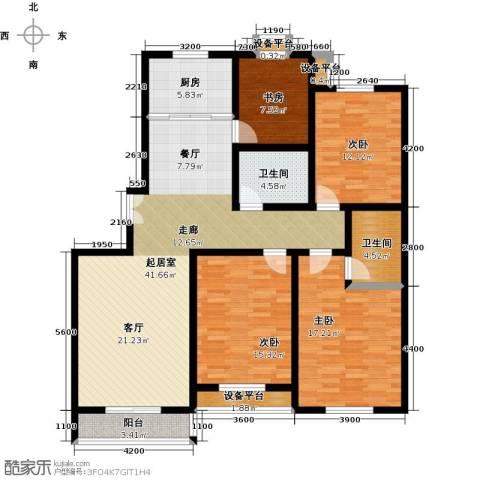 盛世长风二期4室0厅2卫1厨167.00㎡户型图