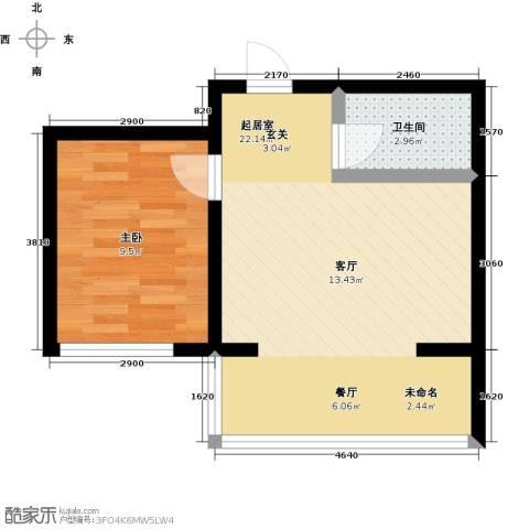 哈尔滨提拉米苏1室0厅1卫0厨50.00㎡户型图