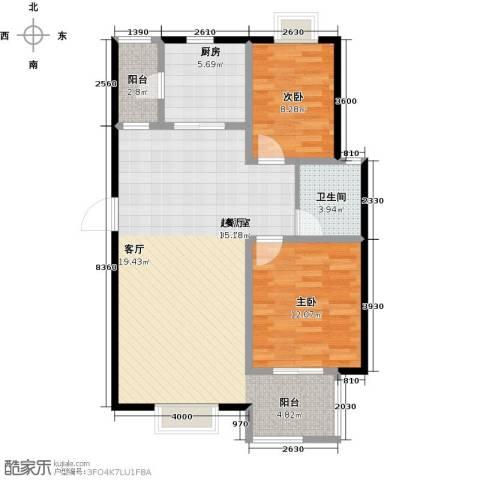 名人国际2室0厅1卫1厨100.00㎡户型图