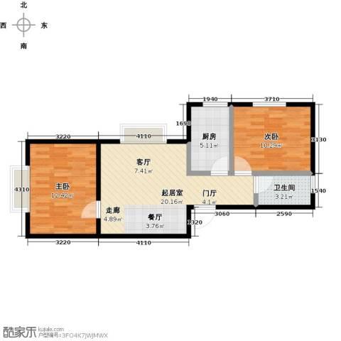 雪峰花园2室0厅1卫1厨63.00㎡户型图