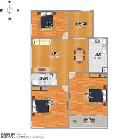 桃花源1室1厅1卫1厨171.00㎡户型图