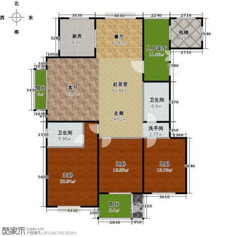 太原香颂3室0厅2卫1厨180.00㎡户型图