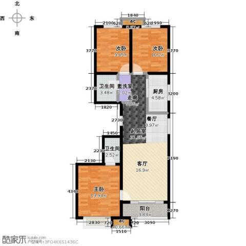 秀水华庭3室0厅2卫1厨115.00㎡户型图
