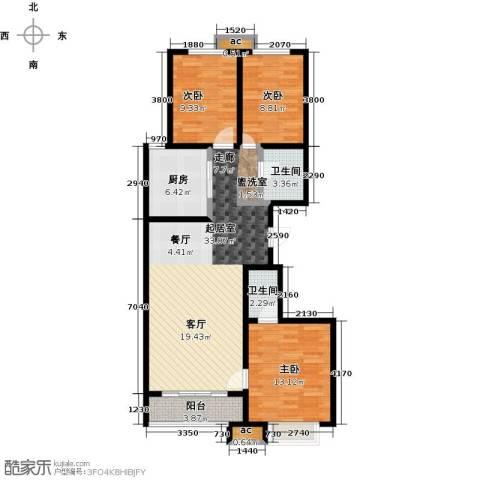 秀水华庭3室0厅2卫1厨120.00㎡户型图