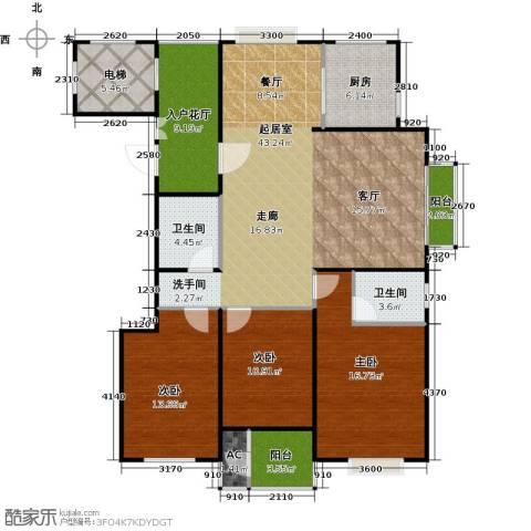 太原香颂3室0厅2卫1厨130.00㎡户型图