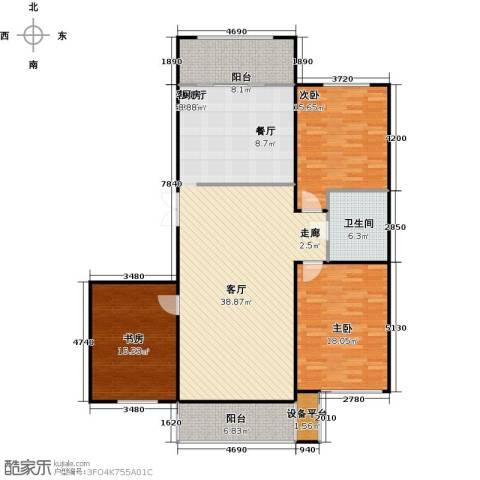 新阳绿洲春城3室1厅1卫0厨174.00㎡户型图