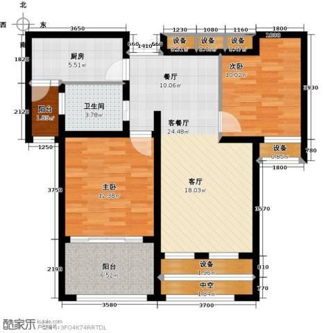 太湖普罗旺斯2室1厅1卫1厨82.00㎡户型图