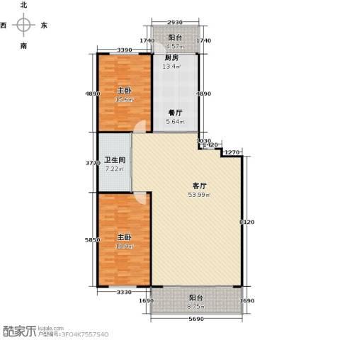 新阳绿洲春城2室1厅1卫1厨161.00㎡户型图