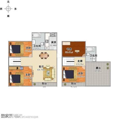 东方花园4室1厅2卫1厨342.00㎡户型图