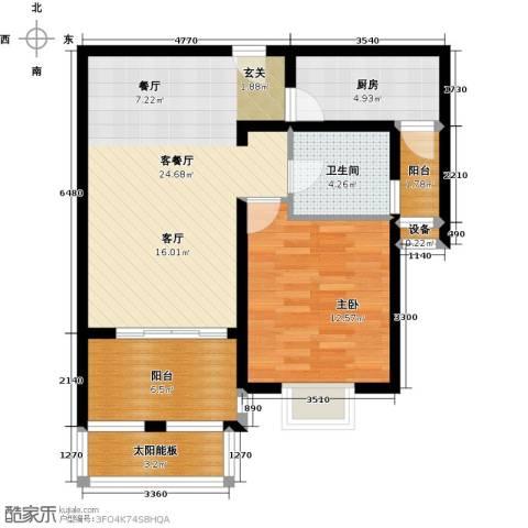 太湖普罗旺斯1室1厅1卫1厨85.00㎡户型图