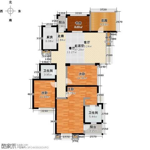 国贸仁皇4室0厅2卫1厨142.00㎡户型图