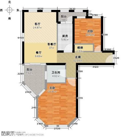 太湖普罗旺斯2室1厅1卫1厨102.00㎡户型图